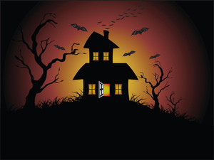 Illustration Of Halloween Background Series2 Set13