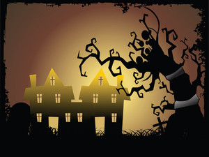 Illustration Of Halloween Background Series2 Set18