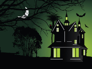 Illustration Of Halloween Background Series2 Set19