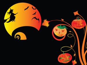 Illustration Of Halloween Background Series2 Set1