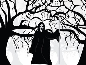 Illustration Of Halloween Background Series2 Set4