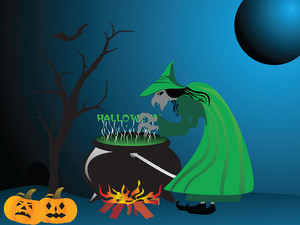 Illustration Of Halloween Background Series2 Set6