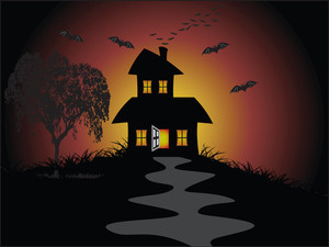 Illustration Of Halloween Background Series2 Set7