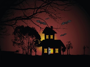 Illustration Of Halloween Background Series2 Set8