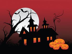 Illustration Of Halloween Background Series3 Set10