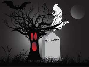 Illustration Of Halloween Background Series3 Set12