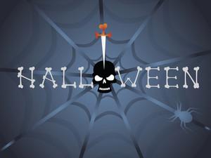 Illustration Of Halloween Background Series3 Set14