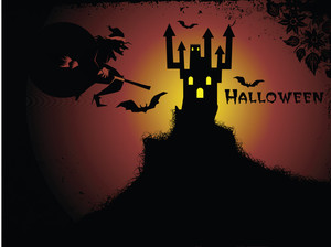 Illustration Of Halloween Background Series3 Set3
