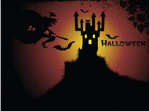 Illustration Of Halloween Background Series3 Set3