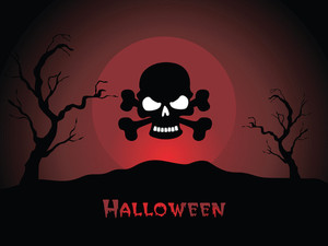 Illustration Of Halloween Background Series3 Set4