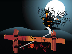 Illustration Of Halloween Background Series3 Set6