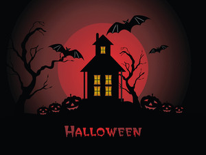 Illustration Of Halloween Background Series3 Set7