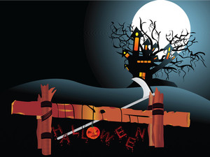 Illustration Of Halloween Background Series3 Set8