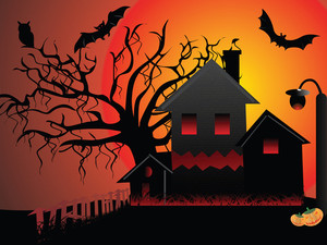 Illustration Of Halloween Background Series3 Set9