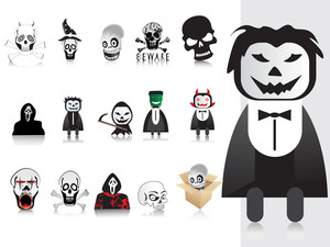 Illustration Of Halloween Icons Set