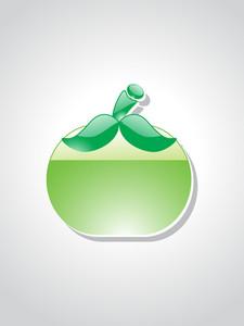 Illustration Of Isolated Apple