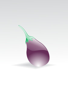 Illustration Of Isolated Glossy Brinjal