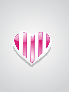 Illustration Of Isolated Romantic Heart