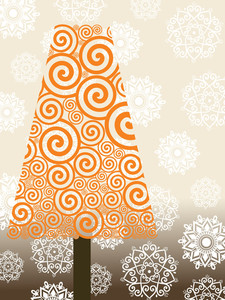 Illustration Of Isolated Tree