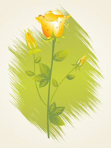 Illustration Of Isolated Yellow Rose