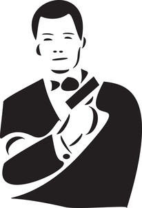 Illustration Of James Bond With Gun.