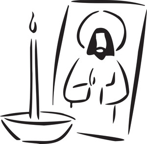 Illustration Of Jesus Christ With Candle.