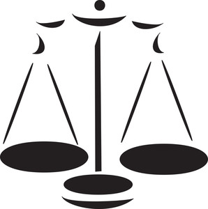 Illustration Of Justice Symbol Of Court.