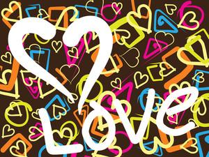 Illustration Of Love Wallpaper