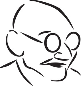 Illustration Of Mahatma Gandhi