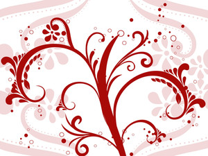 Illustration Of Maroon Floral