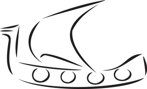 Illustration Of Medieval Ship.