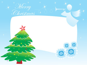 Illustration Of Merry Christmas Card