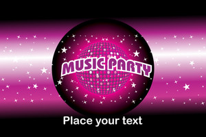 Illustration Of Music Party Background