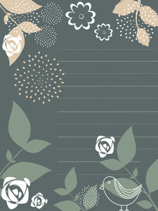 Illustration Of Nature Pattern Background