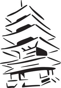 Illustration Of Pagoda Of Japan.