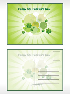 Illustration Of Patrick Day Postcard