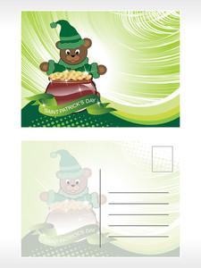 Illustration Of Patrick Day Postcard