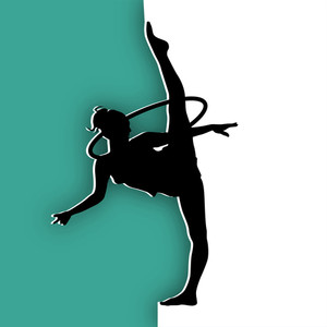 Illustration Of Rhythmic Gymnastic Girl On Abstract Background