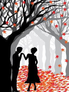Illustration Of Romantic Background