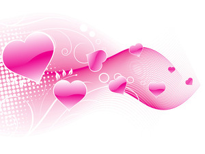 Illustration Of Romantic Love Background