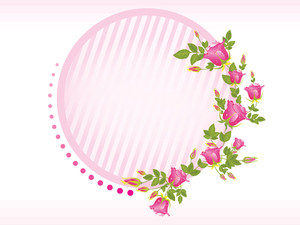 Illustration Of Rose Flower Frame