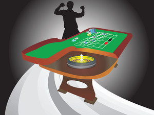 Illustration Of Roulette Table