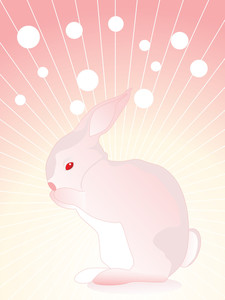 Illustration Of Single Rabbit With Background