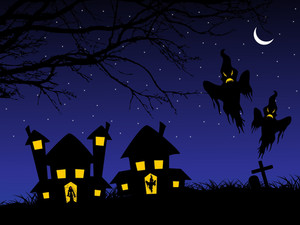 Illustration Of Spooky Background