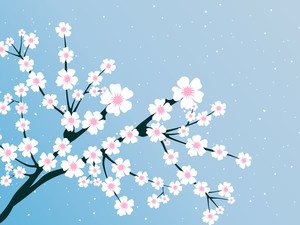 Illustration Of Spring Bloom Branch
