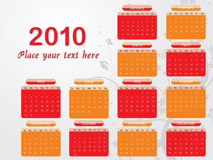 Illustration Of Stylish Pattern Calender