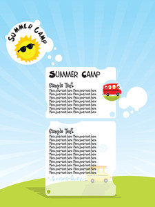 Illustration Of Summer Camp