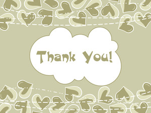 Illustration Of Thank You Background