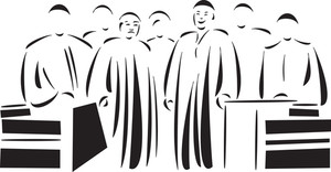 Illustration Of The Courtroom.