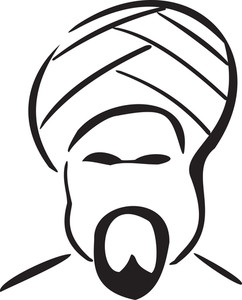 Illustration Of The Face Of Arabian Man.